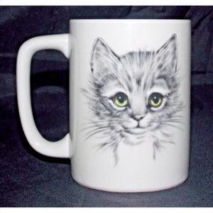 Otagiri Gray Cat Coffee Cup 4in Mug Japan Kitten